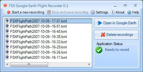 FSX Google Earth Flight Recorder   Evolved Software Studios Ltd